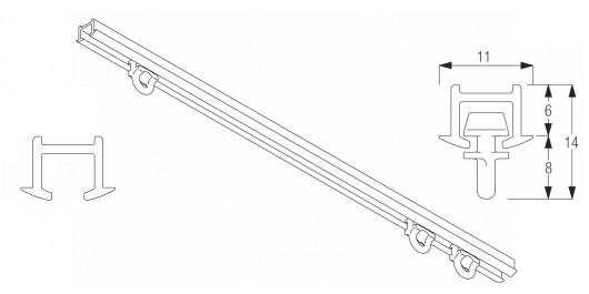 Rail pour tenture encastrable - Achetez-le en ligne sur Laloux Stores !