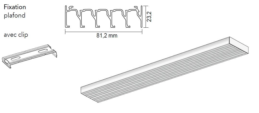 Rail pour panneaux coulissants 5 canaux - Achetez-le en ligne sur Laloux Stores !