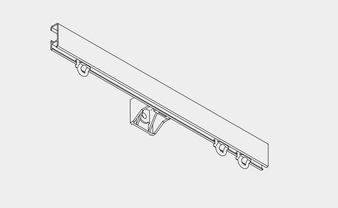 Rail rectangulaire pour tenture - Achetez-le en ligne sur Laloux Stores !