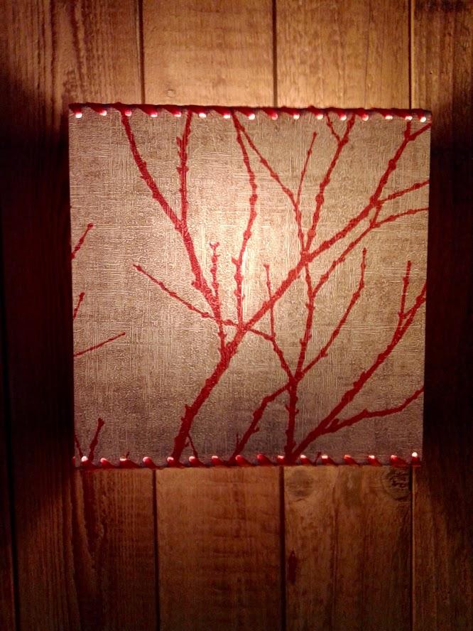 Applique murale motifs nature «Branches oranges». - Achetez-le en ligne sur Laloux Stores !